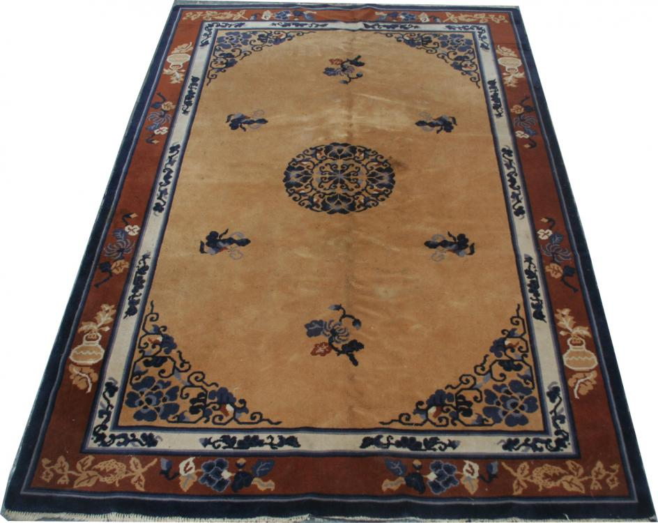 tapis ancien europeen style chinois 200x300 cm tapis d 39 orient tapisseries d 39 aubusson. Black Bedroom Furniture Sets. Home Design Ideas