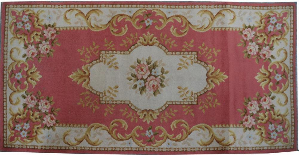 Tapis Ancien Francais Mecanique Aubusson 90x175 Cm Tapis D Orient