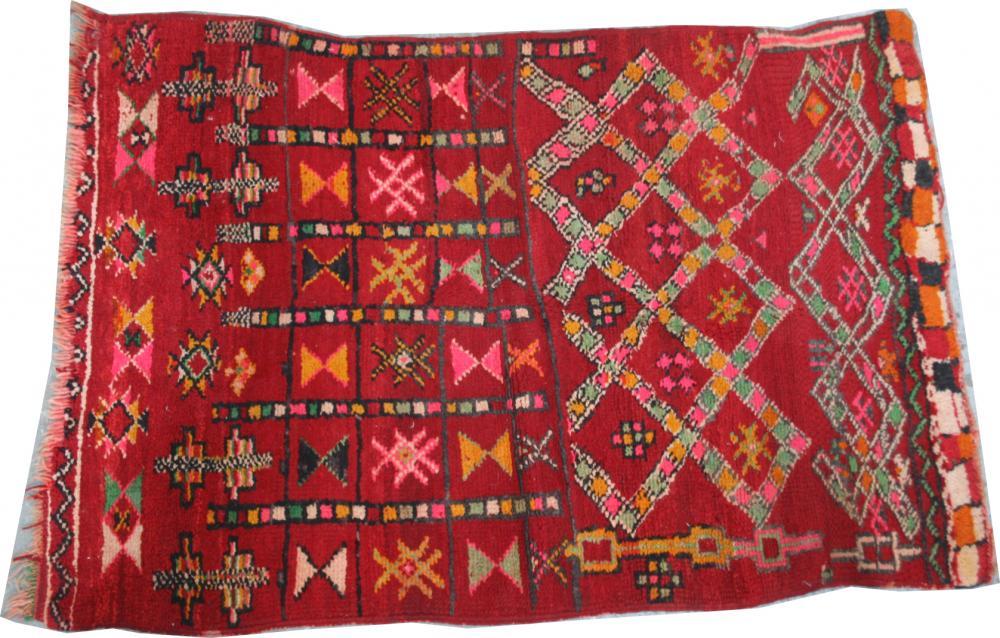 Acceuil TAPIS ANCIENS Du0026#39;ORIENT Tapis ancien Maroc berbu00e8re 88X126 cm