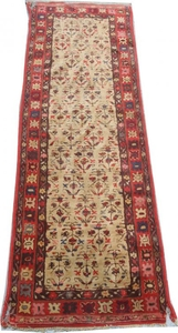 Tapis ancien Français Janus point de Lys 74X236 cm